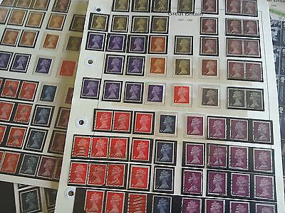 Stamps collections on pages