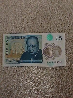 A New £5 Note AA05 ......