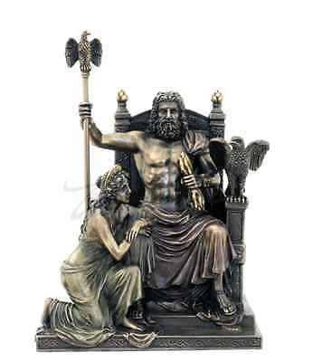 Zeus And Hera At The Throne Sculpture Statue Figurine - GIFT BOXED