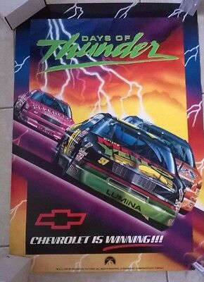 Days Of Thunder Poster 1990 Paramount 24 X 34 Chevrolet Is Winning !!!!