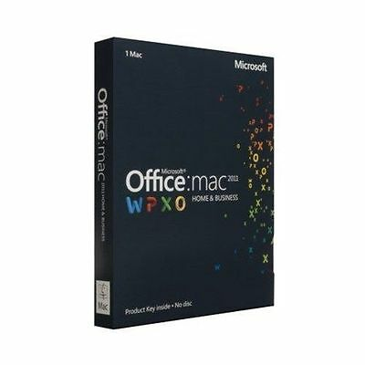 NEW Microsoft Office for Mac Home and Business 2011