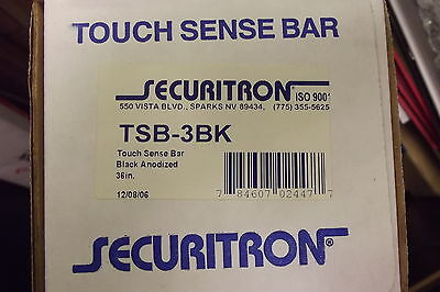 "Securitron Touch Sense Bar Exit Device TSB-3BK 36""  NEW IN BOX NEW OLD STOCK"