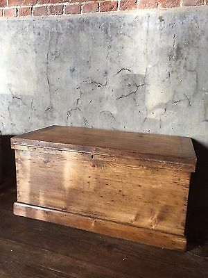 vintage wooden  trunk coffee table storage