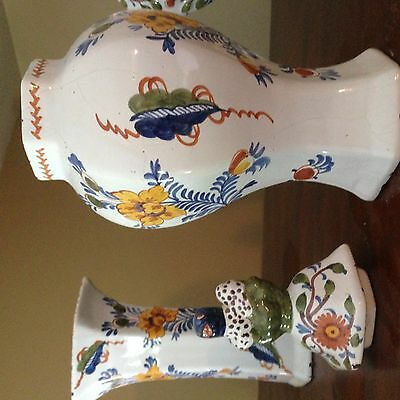Dutch Delft Garniture  of Five Vases  ca1700