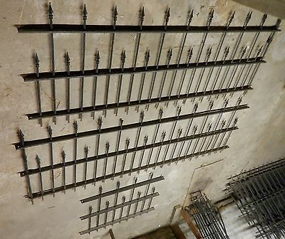 "1895 Victorian Iron Fencing - 3 pieces - 18 1/2 Feet - 222 1/4"" - NICE SET"