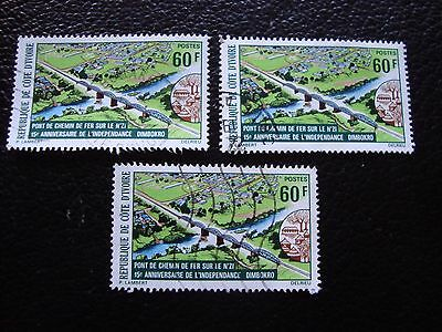 COTE D IVOIRE - timbre yvert/tellier n° 394 x3 obl (A27) stamp (Y)
