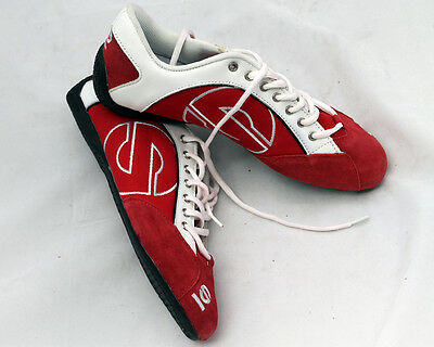 Pair of New Sparco Trainers Red/White UK 9 EU 43 UK KART STORE