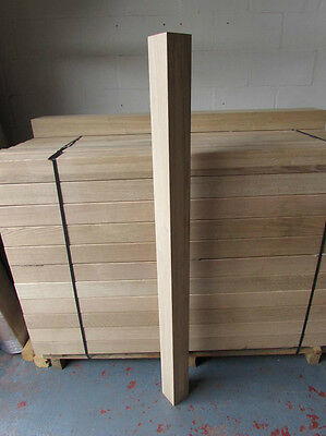 Solid White Oak Square Newel Post Stairs 90mm x 90mm x 1500mm Furniture Legs