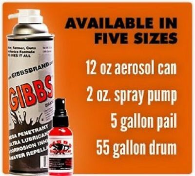 Gibbs Lubricant 2 Pack of 12oz Cans