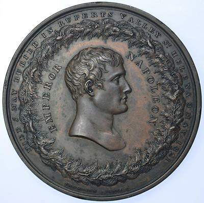 England / France - 1821 Death of Napoleon medal by Thomason