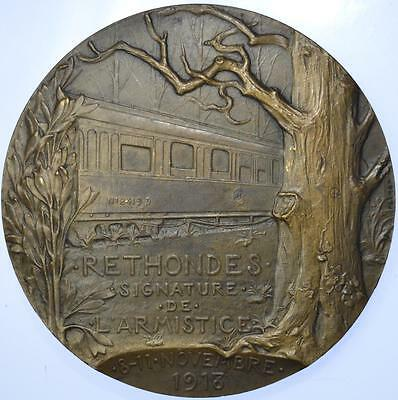 France - 1918 WWI Marshal Foch and the Armistice medal by Prudhomme