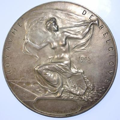 Belgium - 1905 Liege Exposition silvered prize medal by Dubois
