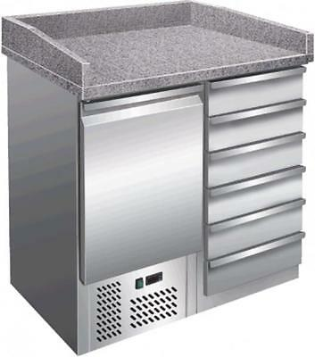 Pizzastation B 955 x T 700 x H 1020mm Pizza table Refrigerated counter