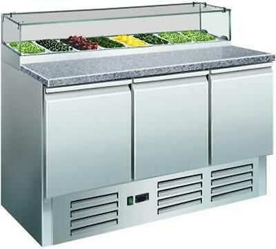 Pizza table with Glass top cooling type Document station B 1370 x T 700 H 1180mm