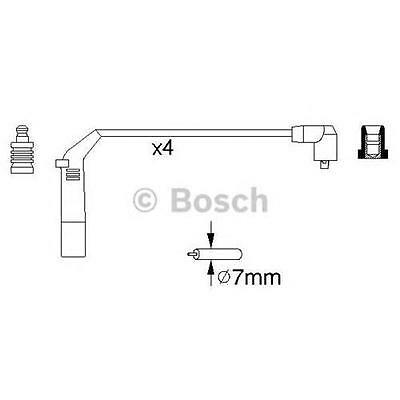 1x Kit cavi accensione BOSCH 0986356898 HYUNDAI   ACCENT I (X-3)   1.5 16V 2 vol