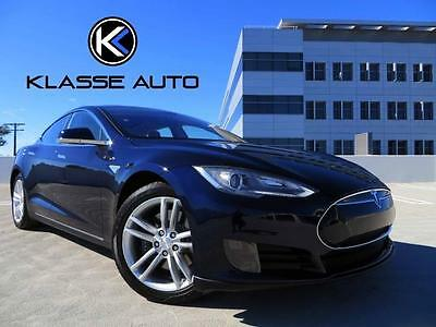 2013 Tesla Model S  2013 Tesla Model S Sedan Carpool Stickers Glass Roof Low Miles 1 Owner Wow!