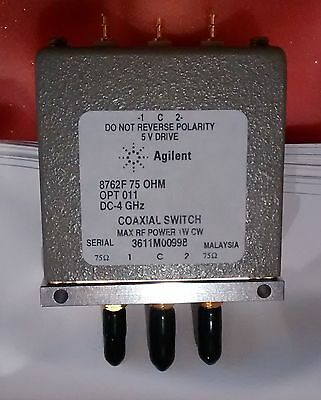 KEYSIGHT / AGILENT TECH / HP 8762F OPT 011 - Coaxial SPDT Switch, DC to 4GHz;