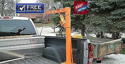 1000LB TRUCK CRANE HD RATCHET WINCH STEEL CABLE 1/2TON CAPACITY compare at $800