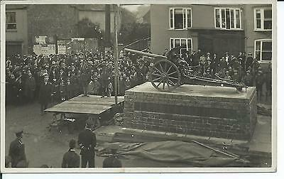 Real photo postcard of the War mamorial at Beaminster  Dorset in V.G. condition.