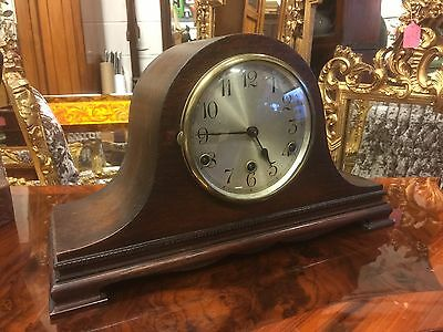 Fine Looking Oak Art Deco Mantle Clock, Westminster Chime, Open To Offers.