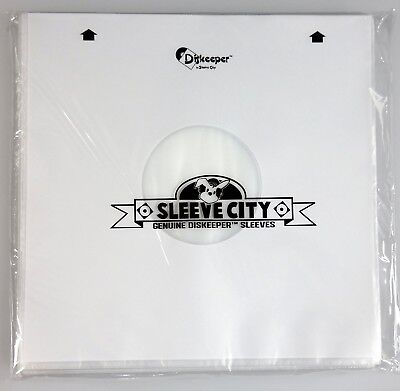 Diskeeper Ultimate Audiophile Inner Record Sleeves by Sleeve City (50 Pack)