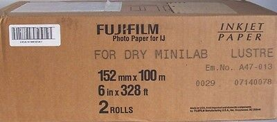 "Fujifilm Lustre Inkjet Photo Paper 6"" x 328' for Dry Minilab **NEW**"