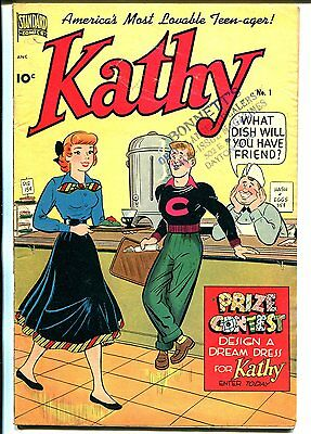 Kathy #1 1949-Standard-spicy Good Girl art poses-1st issue-teen humor-VG/FN