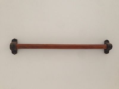 Vintage Antique Hanging Rail/Bar For Hooks. 52cm Long