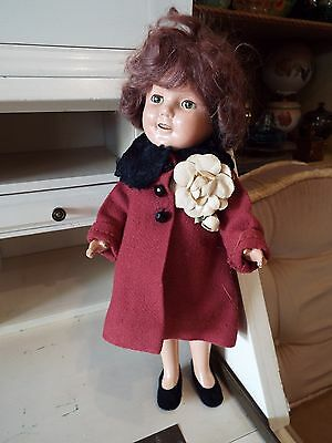 """Vintage Ideal 13"""" Composition Shirley Temple Doll With Open Mouth Nr"""