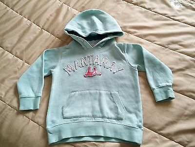 Lovely condition Mantaray pale green hooded fleece 3-4 years
