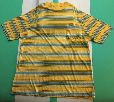True Vintage 80s California Styled  Striped T-Shirt Sz XL
