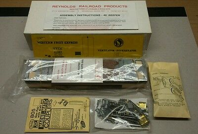 Athearn O Scale 40' Western Fruit Exp. Great Northern Brass & Wood Box Car Kit