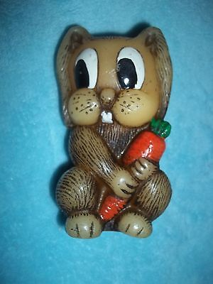 Hand Painted Hand Crafted Rabbit Candle Animal Delights  Nice