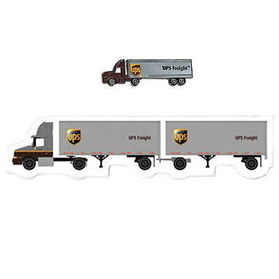United Parcel Service Ups Freight Tractor Trailer Truck Pin & Doubles Magnet