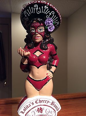 Beer Tap Handle - Lucha Libre Mexican Girl