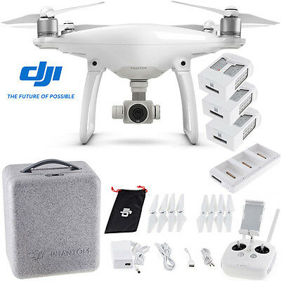 DJI Phantom 4 Quadcopter w/ 2 Extra Batteries (Total 3 batteries) + Charging Hub