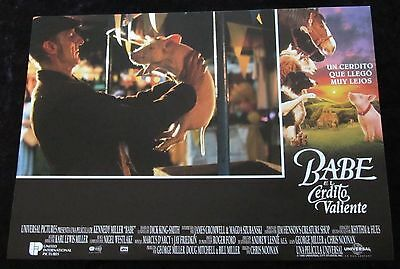 BABE PIG IN THE CITY lobby card  # 11 - JAMES CROMWELL