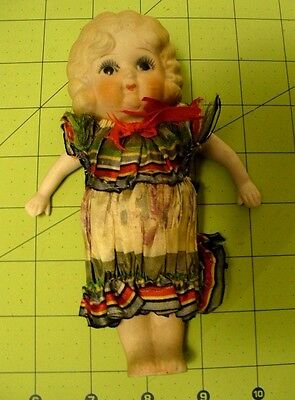 Antique All Bisque Flapper Betty Boop, Baby Ruth - Made In Japan