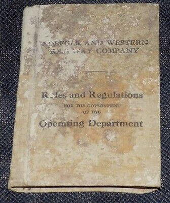 Norfolk and Western Railroad RR Co Rules Regulations Vintage Book Crawford