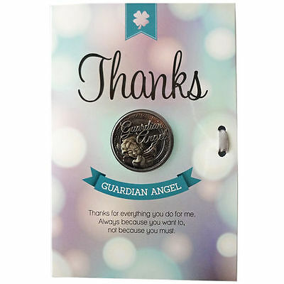 Lucky Coin Greeting Gift Message Keepsake Card - Thanks