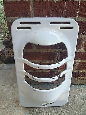 Vintage White Enamel Gas Wall Heater Front Grill