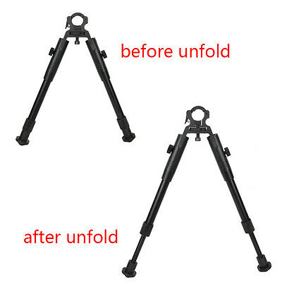 """New Clamp-on 8""""-10"""" Spring Stand low profile Bipod Hunting Airsoft Air Rifle Gun"""