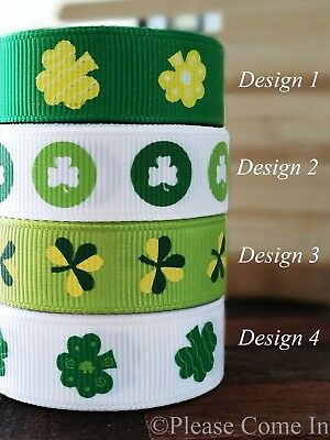 "Grosgrain Ribbon St. Patrick's Day 10mm/16mm 3/8"" 5/8"""