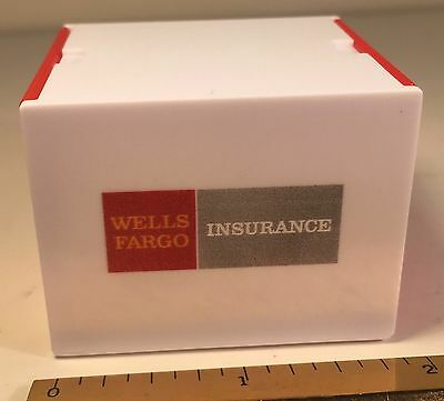 Wells Fargo Insurance Advertising Collectible Box Logo Headphones Cleaning Cloth