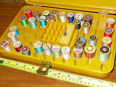 Wilson Sewing box for thread bobbins & wooden spools with thread