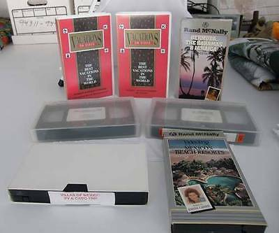 7 assorted Travel VHS tapes