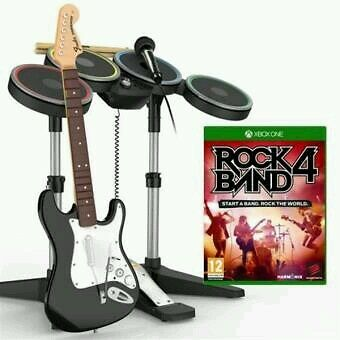 Pack Rock Band 4 Xbox One + Band in a Box (Guitare, Micro et Batterie) MadCatz
