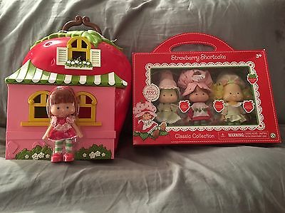 VINTAGE* 4 Strawberry shortcake dolls With Original 80s Doll Case