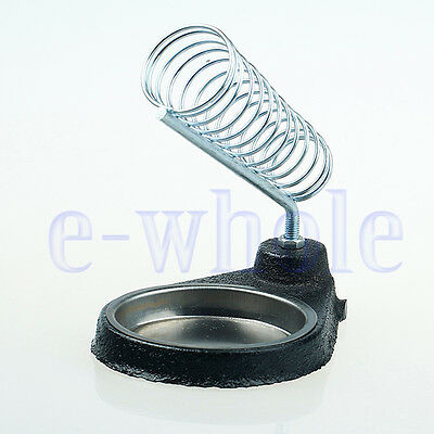 Round Soldering Solder Iron Gun Stand Holder Support Station Metal Base EW