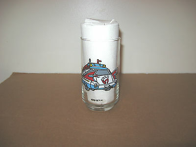 Vintage 1989 Ghostbusters II 2 ECTO-1A Promo Drinking Glass Columbia Pictures